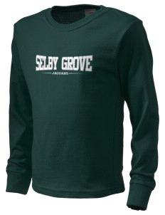Selby Grove Elementary School Jaguars  Kid's Long Sleeve T-Shirt
