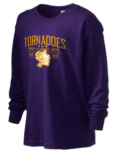 Purvis Attendance Center tornadoes Kid's 6.1 oz Long Sleeve Ultra Cotton T-Shirt
