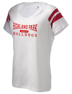 Highland Park Intermediate School Bulldogs Holloway Women's Shout Bi-Color T-Shirt
