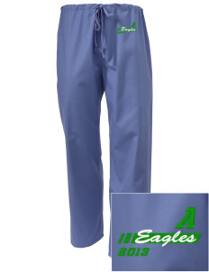 Adams Elementary School Eagles Embroidered Scrub Pants