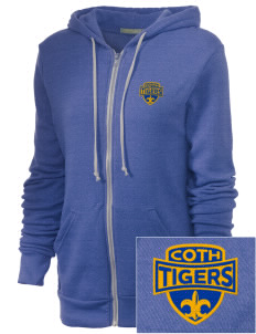 Connelly School Of The Holy Child Tigers Embroidered Alternative Unisex The Rocky Eco-Fleece Hooded Sweatshirt