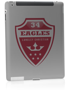 Langley Christian School Eagles Apple iPad 2 Skin