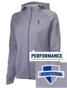Hoover Elementary School Bears Embroidered Women's Tech Fleece Full-Zip Hooded Jacket
