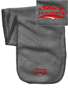 Stacy Middle School Hawks Embroidered Fleece Scarf