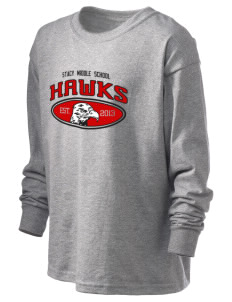 Stacy Middle School Hawks Kid's 6.1 oz Long Sleeve Ultra Cotton T-Shirt