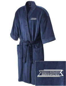 Rancho Bernardo High School Broncos Embroidered Terry Velour Robe