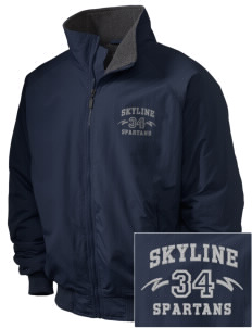 Skyline High School Spartans Embroidered Holloway Men's Tall Jacket