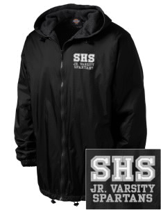 Skyline High School Spartans Embroidered Dickies Men's Fleece-Lined Hooded Jacket