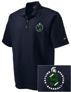 Skyline High School Spartans Embroidered Nike Men's Dri-FIT Pique II Golf Polo