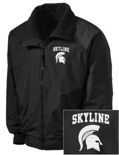 Skyline High School Spartans Embroidered Tall Men's Challenger Jacket