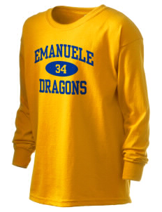 Emanuele Elementary School Dragons Kid's 6.1 oz Long Sleeve Ultra Cotton T-Shirt