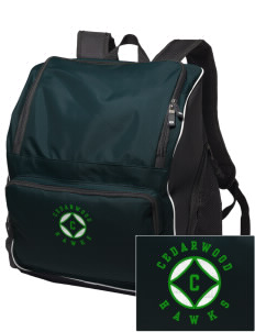 Cedarwood Elementary School Hawks Embroidered Holloway Backpack