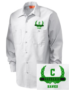 Cedarwood Elementary School Hawks Embroidered Men's Industrial Work Shirt - Regular