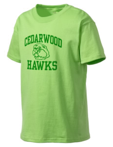 Cedarwood Elementary School Hawks Kid's Lightweight T-Shirt
