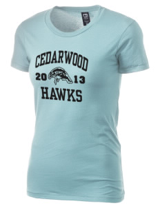 Cedarwood Elementary School Hawks Alternative Women's Basic Crew T-Shirt