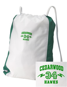 Cedarwood Elementary School Hawks Embroidered Holloway Home and Away Cinch Bag