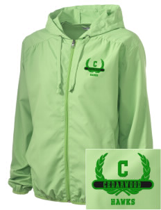 Cedarwood Elementary School Hawks Embroidered Women's Hooded Essential Jacket