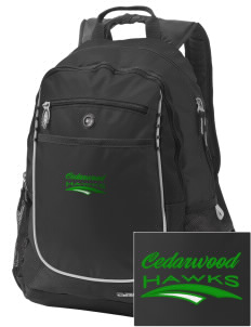 Cedarwood Elementary School Hawks Embroidered OGIO Carbon Backpack