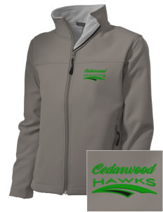 Cedarwood Elementary School Hawks Embroidered Women's Soft Shell Jacket