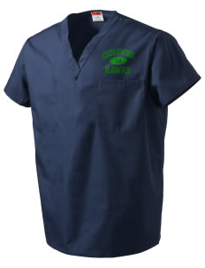 Cedarwood Elementary School Hawks V-Neck Scrub Top