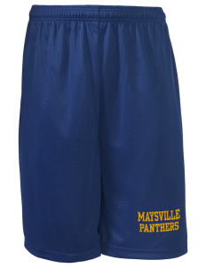 "Maysville Elementary School Panthers Long Mesh Shorts, 9"" Inseam"