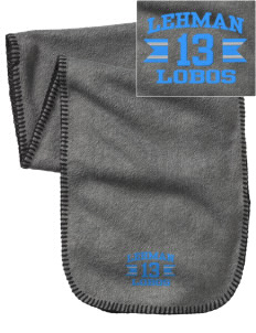 Lehman High School Lobos Embroidered Fleece Scarf