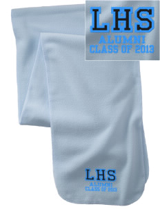 Lehman High School Lobos  Embroidered Extra Long Fleece Scarf