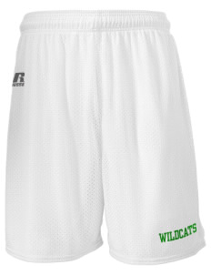 "Whittier Elementary School Wildcats  Russell Men's Mesh Shorts, 7"" Inseam"