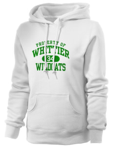 Whittier Elementary School Wildcats Russell Women's Pro Cotton Fleece Hooded Sweatshirt