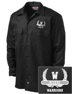 Wickes Elementary School Warriors Embroidered Dickies Men's Long-Sleeve Workshirt