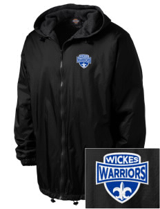 Wickes Elementary School Warriors Embroidered Dickies Men's Fleece-Lined Hooded Jacket
