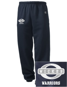 Wickes Elementary School Warriors Embroidered Champion Men's Sweatpants
