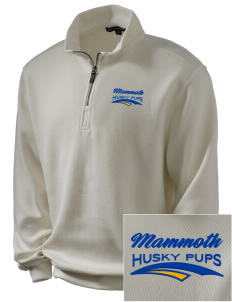 Mammoth Elementary School Husky Pups Embroidered Men's 1/4-Zip Sweatshirt