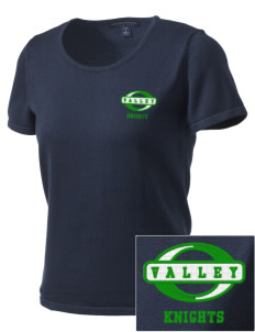 Valley Elementary School Knights Embroidered Women's Fine-Gauge Scoop Neck Sweater