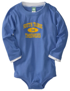 South Lake Tahoe Middle School Timber Wolves  Baby Long Sleeve 1-Piece with Shoulder Snaps