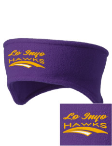 Lo Inyo Elementary School Hawks Embroidered Fleece Headband
