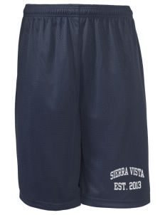 "Sierra Vista Middle School Vikings Long Mesh Shorts, 9"" Inseam"