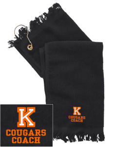 Kolb Middle School Cougars  Embroidered Grommeted Finger Tip Towel