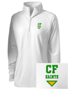 Clyde Fischer Middle School Saints Embroidered Ladies Stretched Half-Zip Pullover