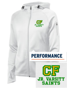 Clyde Fischer Middle School Saints Embroidered Women's Tech Fleece Full-Zip Hooded Jacket