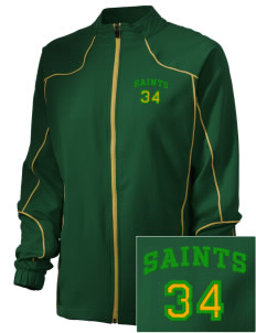 Clyde Fischer Middle School Saints Embroidered Russell Women's Full Zip Jacket