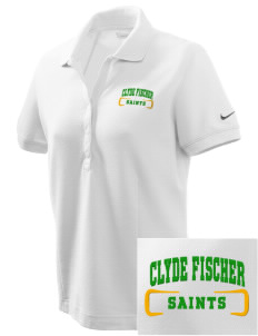 Clyde Fischer Middle School Saints Embroidered Nike Women's Pique Golf Polo