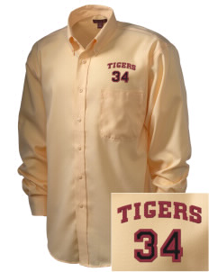 Ransom Middle School Tigers  Embroidered Men's Nailhead Non-Iron Button-Down