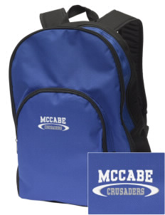 McCabe Elementary School Crusaders Embroidered Value Backpack