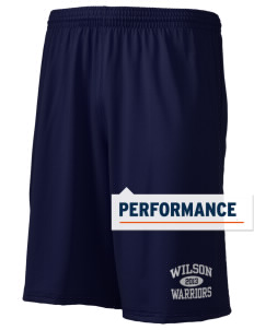 "Wilson Junior High School Warriors Holloway Men's Performance Shorts, 9"" Inseam"