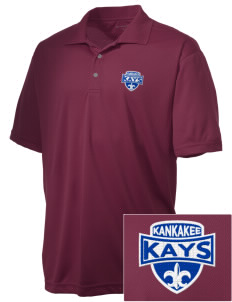 Kankakee Junior High School Warriors Embroidered Men's Double Mesh Polo