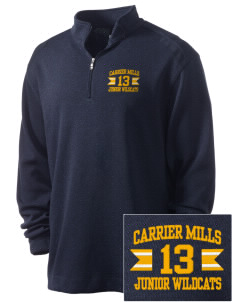 Carrier Mills Elementary School Junior Wildcats Embroidered Nike Men's Golf Heather Cover Up