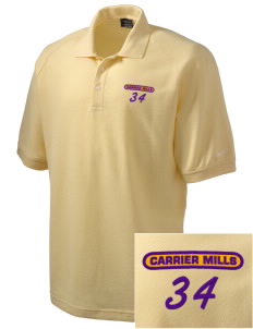 Carrier Mills Elementary School Junior Wildcats Embroidered Nike Men's Pique Knit Golf Polo
