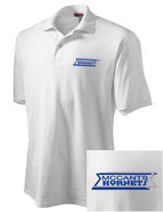 McCants Middle School Hornets Embroidered Men's Jersey Polo