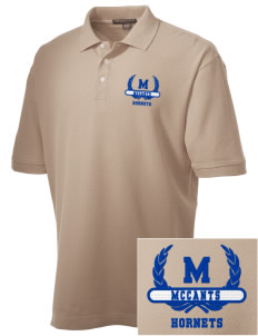 McCants Middle School Hornets Embroidered Men's Performance Plus Pique Polo